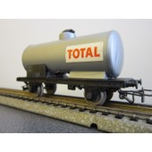Wagon Citerne 2 Essieux Total En Boite Origine Ref 6308 Ho 1/87eme