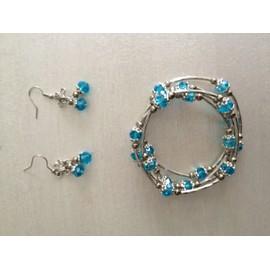 Parure Bracelet Spiral Boucles D'oreilles