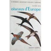 Guide Des Oiseaux D'europe de Peterson, Roger