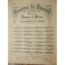 op. 10. oeuvres de dussek. sonates et priéres. n°5 grave.adagio non troppo.