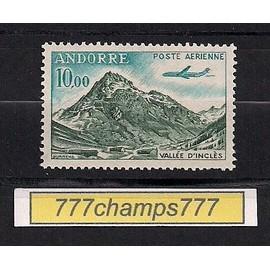 Andorre Français. Poste Aérienne. Vallée D