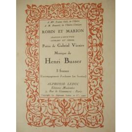 robin et marion. chanson à 2 voix (soprano et ténor). poésie de gabriel vicaire, musique de henri busser. chant et piano.