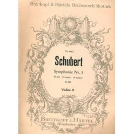 Schubert Symphonie N°3 Ré mal D 200 Violine II