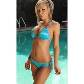 1 Set Maillot De Bain Bikini Trans-Bronzant Sexy Femme Taille Libre 9 Couleurs