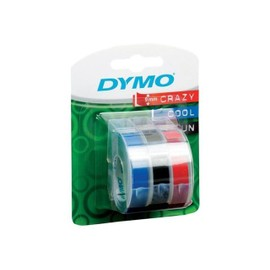 Dymo - Ruban De Marquage 3d Auto-Collant - Noir, Bleu, Rouge - Rouleau (0,9 Cm X 3 M) 3 Rouleau(X) Blister - - Pour Dymo Junior Embosser