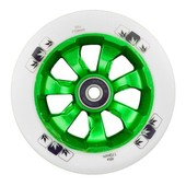 Trotinette Freestyle Roue Blunt 7 Spokes Green/White Avec Roulements Abec 9 - Taille 110mm-88a
