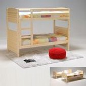 Lit Superpos� Woopi 90x190 + 2 Sommiers / Naturel