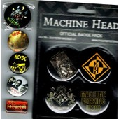 Lot 9 Badges Hard Rock Machine Head Acdc Ac/Dc Metallica Judas Priest Depeche Mode