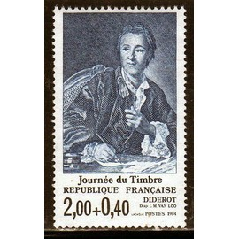 FRANCE 1984 n° 2304 NEUF JOURNEE DU TIMBRE Diderot