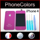 Kit Couleur Complet Iphone 4 Violet (�cran Tactile + Lcd Retina + Vitre Arri�re + Bouton Home) Oem Apple + Kit Outils : Tournevis Cruciforme, Pentalobe Torx �toile, Plat Spatule