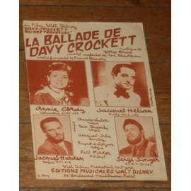 partition annie cordy / jacques helian / la ballade de davy crockett