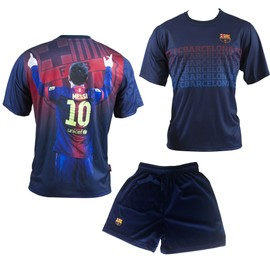 Maillot + Short Bar�a Lionel Messi - N� 10 - Collection Officielle Fc Barcelone - Fc Barcelona - Football - Taille Enfant Gar�on