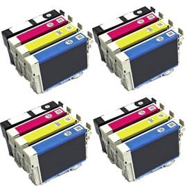 Tonercenter24 - Epson T1285 - 4 X Compatible Cartouche D'encre Set Pour Epson Stylus S22 Sx125 Sx130 Sx235 Sx420w Sx425w Sx435 Bx305f Bx305fw