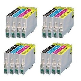 Tonercenter24 - 4 X Epson T0715 Compatible Cartouche Encre Set Pour Epson Stylus Sx20 Sx21 Sx100 Sx 105 Sx115 Sx200 Sx205 Sx215 Sx400 Sx415 Sx515w Sx600f Sx600fw (4 Set - 16 Item)