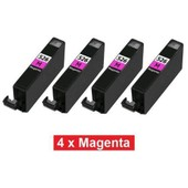 Tonercenter24 - 4 X Cli-526 (Avec Puce) Compatible Magenta Cartouche D'encre Pour Canon Pixma Mg5150, Mg5200, Mg5250, Mg5350, Mg6150, Mg6220, Mg6250, Mg8150, Mg8220, Mg8250 (4 X Magenta Ink)