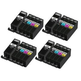Tonercenter24 - 4 X Pgi-525bk / 4 X Cli-526bk / 4 X Cli-526c / 4 X Cli-526m / 4 X Cli-526y Compatible Cartouche D'encre Set Pour Canon Pixma Ip4850, Ip4800, Ip4950, Ix6550, Ix6250 - Avec Puce