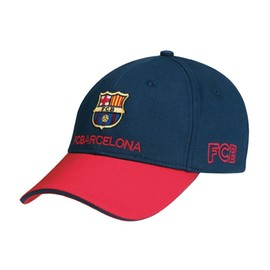 Casquette Fc Barcelone - Collection Officielle Fc Barcelona - Football - Blason Maillot Club Bar�a - Taille R�glable
