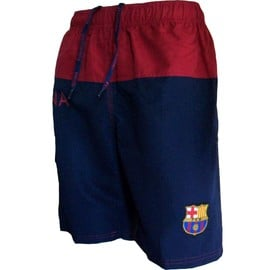 Short De Bain Plage Fc Barcelone - Collection Officielle Fc Barcelona - Football - Blason Maillot Bar�a - Taille Homme