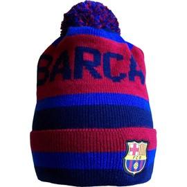 Bonnet Supporter Fc Barcelone - Collection Officielle Fc Barcelona - Football - Blason Maillot Bar�a - Taille Unique Pour Adulte Et Ado