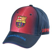Casquette Enfant Fc Barcelone - Collection Officielle Fc Barcelona - Football - Blason Maillot Club Bar�a - Taille R�glable