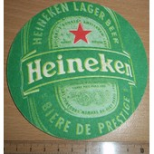 Sous-Bock Sous Verre Cartonn� Bi�re 2 Faces Imprim�es Heineken