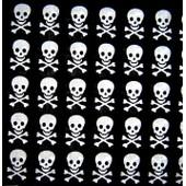 ****** Bandana Foulard Pirate T�te De Mort 100% Coton 55cm X 55cm