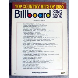 BILLBOARD SONG BOOK.TOP COUNTRY HITS OF 1980 ALL-LEVEL GUITAR