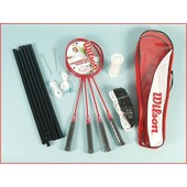 Set De Badminton Wilson Badminton Tour Set 4 Raq Rouge 88730