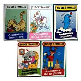 Un Jeu De 7 Familles *Animaux Marin / Foret/Familiers/Sauvages/Ferm
