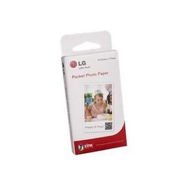 Lg Zink Pocket Photo Paper - Papier Photo - 50 X 76 Mm 10 Feuille(S) (Pack De 3 ) - Pour Lg Pd239tw