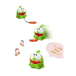 Cut The Rope Peluche Sonore Omnom Candy Monster 15 Cm