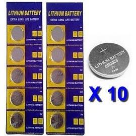 10 Piles Bouton Lithium Cr2025 (Cr 2025) - 3 Volts - Pour Montre, Pc, Apn, Etc...