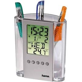 Hama Thermometre Lcd Et Porte-Crayons, Argent/Transparent,