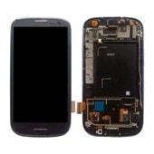 Ecran Lcd Tactile Sur Chassis Pour Samsung Galaxy S3 I9300 Bleu