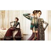 Sari Indien Haut De Gamme Velours T36/38/Takchita/Caftan/Robe Kabyle/Keswa/Robe Soiree
