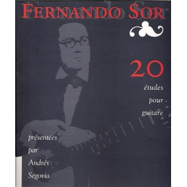 sor : 20 études pour guitare (révision ségovia) [Broché] by Fernando Sor