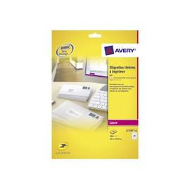 Avery Quickpeel L7159 - �tiquettes D'adresse Autocollantes Permanentes - Blanc - 63.5 X 33.9 Mm 240 �tiquette(S) ( 10 Feuille(S) X 24 )