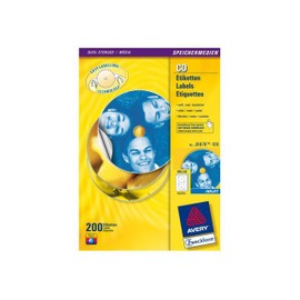 Avery Cd/Dvd Labels - �tiquettes Pour Cd/Dvd - Blanc - Rond 117 Mm 200 �tiquette(S) ( 100 Feuille(S) X 2 )