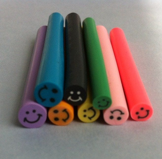 10 Tiges Batons Cane Fimo Bijoux 3d Ongles Nail Smiley Lame