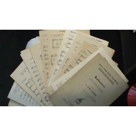 XVIIème et XVIIIème Siècle Partitions J.P. Rameau, H. de Mont, F. Couperin, M.A Charpentier, N. Bernier, S. Scheidt, R. Cooper, A. Campra, G. Goudimel, H. Dumont, G. Bouzignac,R. de Lassus, A. Moisan,
