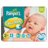 Couches New Baby 2 - 3 � 6 Kg - 33 Couches