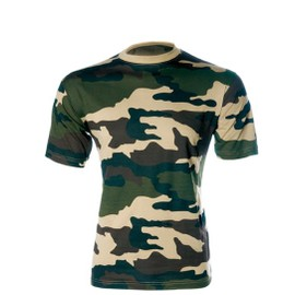 Tee Shirt Camo Cce Camouflage Centre Europe Col Rond Et Manches Courtes Airsoft