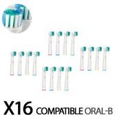 16 Recharges brosse � dent �lectrique Brossettes compatible oral-b