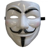Lot De 10 Masques Blanc V Pour Vendetta, Anonymous, Guy Fawkes D�guisement