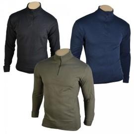 Chemise F1 Coton Noire Ou Bleu Ou Verte Polo Manches Longues Col Zipp�