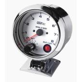Manometre Compte Tours Shift Light - Fond Blanc - Diametre 90mm