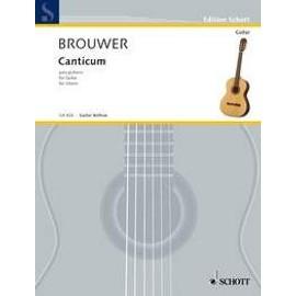 Brouwer : Canticum para guitarra