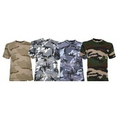 T-Shirt Camoufl� Manches Courtes Tee Shirt Cam Camo Camouflage
