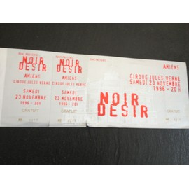 NOIR DESIR TICKET AMIENS 1996  INVITATION