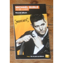 plv 14x25cm michael buble to be loved jazz  rigide cartonnée magasins fnac
